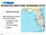 interstate sanctions bordering state