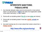 interstate sanctions fhsaa nfhs