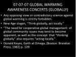 07 07 07 global warming awareness concerts globally