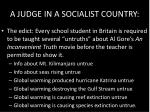 a judge in a socialist country