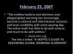 february 25 2007