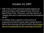 october 14 2007