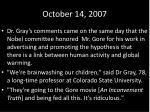 october 14 20071