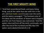 the first mighty wind