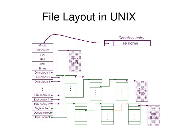 File Layout in UNIX