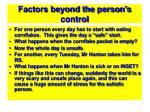 factors beyond the person s control