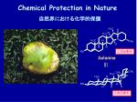 chemical protection in nature
