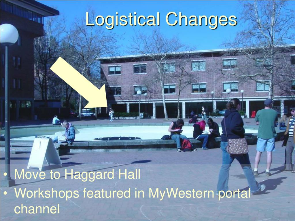 Logistical Changes