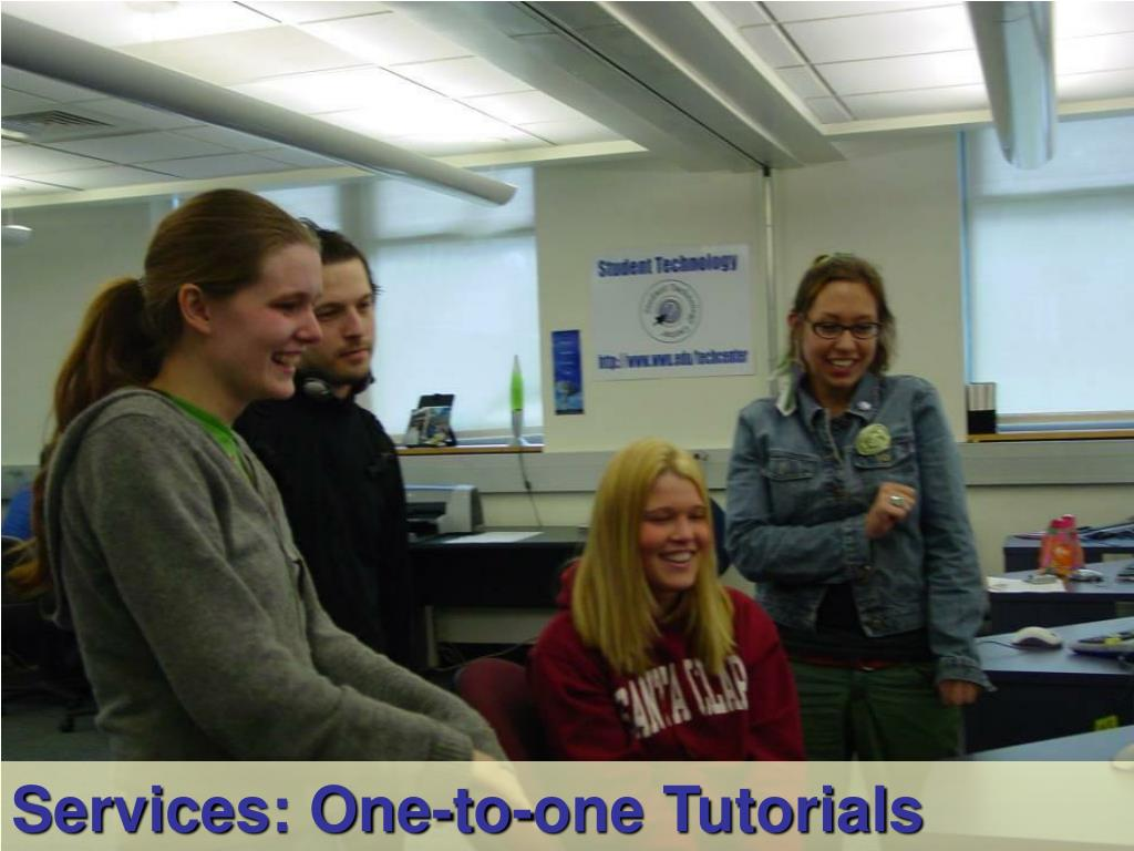 Services: One-to-one Tutorials