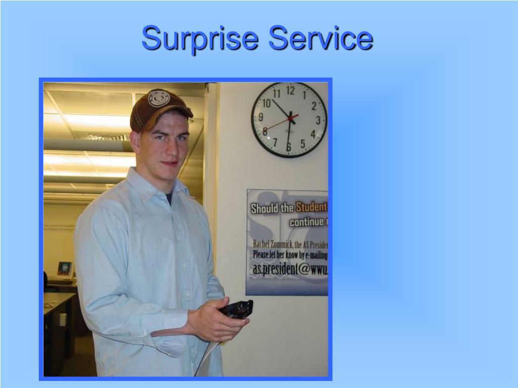 Surprise Service