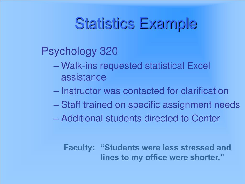 Statistics Example