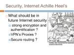 security internet achille heel s
