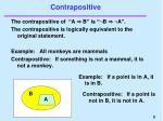 contrapositive