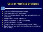 goals of preclinical evaluation