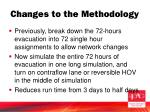 changes to the methodology