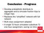 conclusion progress