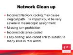 network clean up