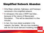 simplified network abandon