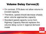 volume delay curves 2