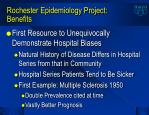 rochester epidemiology project benefits