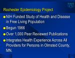 rochester epidemiology project