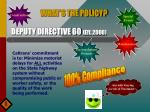deputy directive 60 eff 2000