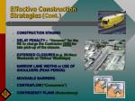 effective construction strategies cont