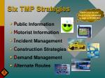 six tmp strategies