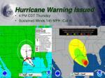 hurricane warning issued1