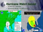 hurricane watch issued