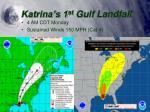katrina s 1 st gulf landfall