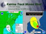 katrina track moves west