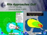 rita approaches gulf