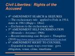 civil liberties rights of the accused