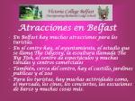 atracciones en belfast