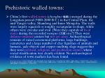 prehistoric walled towns