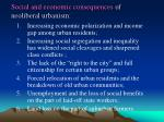 social and economic consequences of neoliberal urbanism