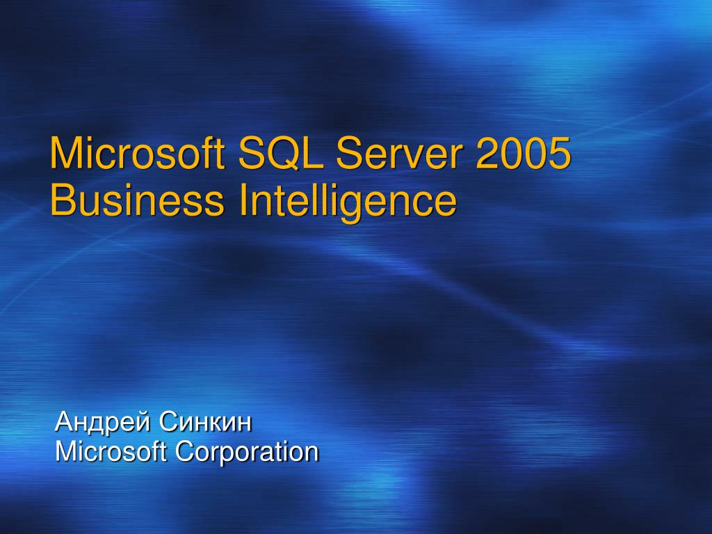 microsoft sql server 2005 business intelligence l.