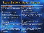 report builder vs report designer