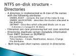 ntfs on disk structure directories