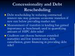concessionality and debt rescheduling