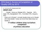 efa goal 2 access to completion of quality upe by 2015