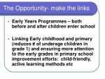 the opportunity make the links