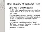 brief history of williams rule1