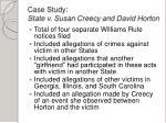 case study state v susan creecy and david horton1