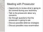 meeting with prosecutor