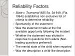 reliability factors