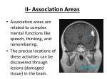 ii association areas