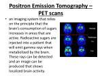 positron emission tomography pet scans