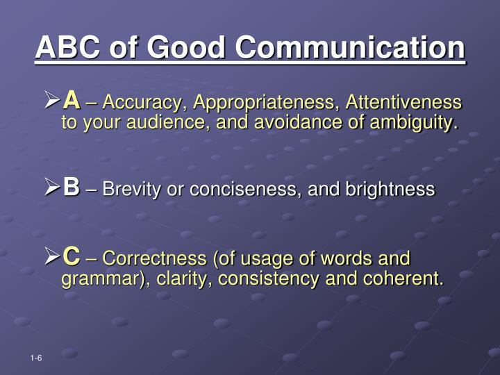 ABC of Good Communication